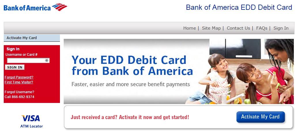 edd bank of america card app